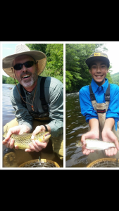 Nothing better than getting a father and son together for their first fish on the fly